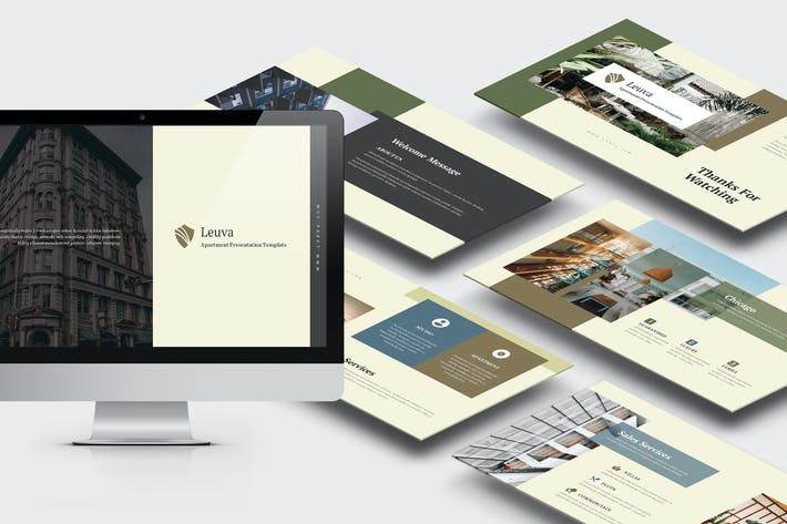 Thumbnail for Lueva: Apartment & Property Business Google Slides