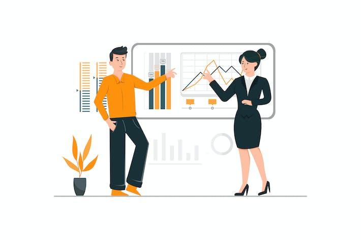 Thumbnail for Geschäftsmann präsentiert ein Projekt zu seinem Manager