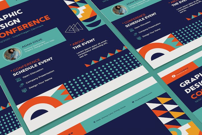 Thumbnail for Event Conference Poster Illustrator Template