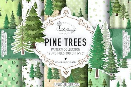 Pinienbäume digitale Papierpackung