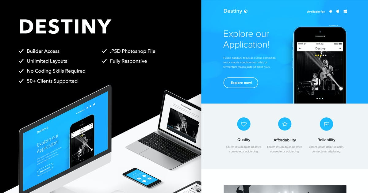 Download Destiny - Responsive Email + Themebuilder Access by RocketWay
