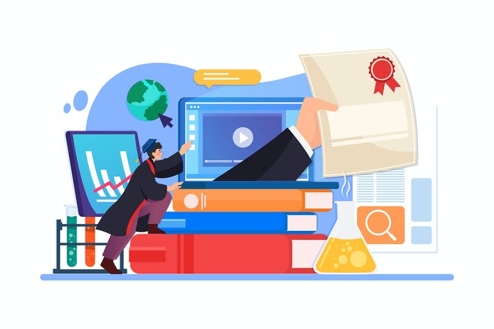 Thumbnail for Online Education vector Illustration concept