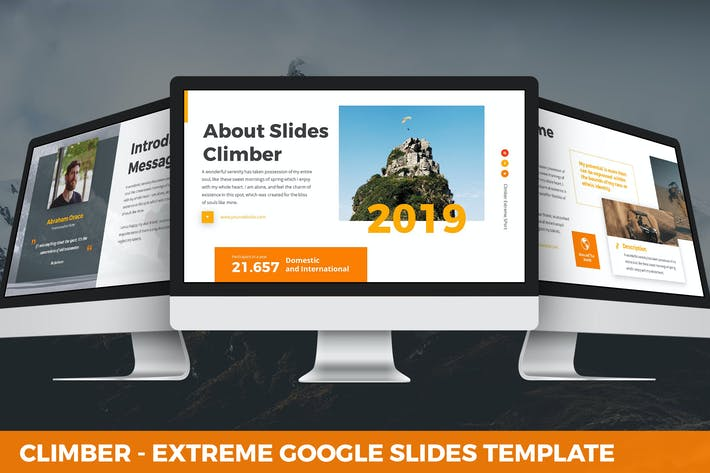 Thumbnail for Climber - Extreme Google Slides Template