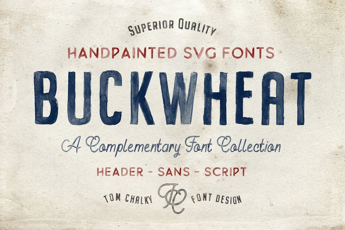Cover Image For Buckwheat Opentype SVG Fonts