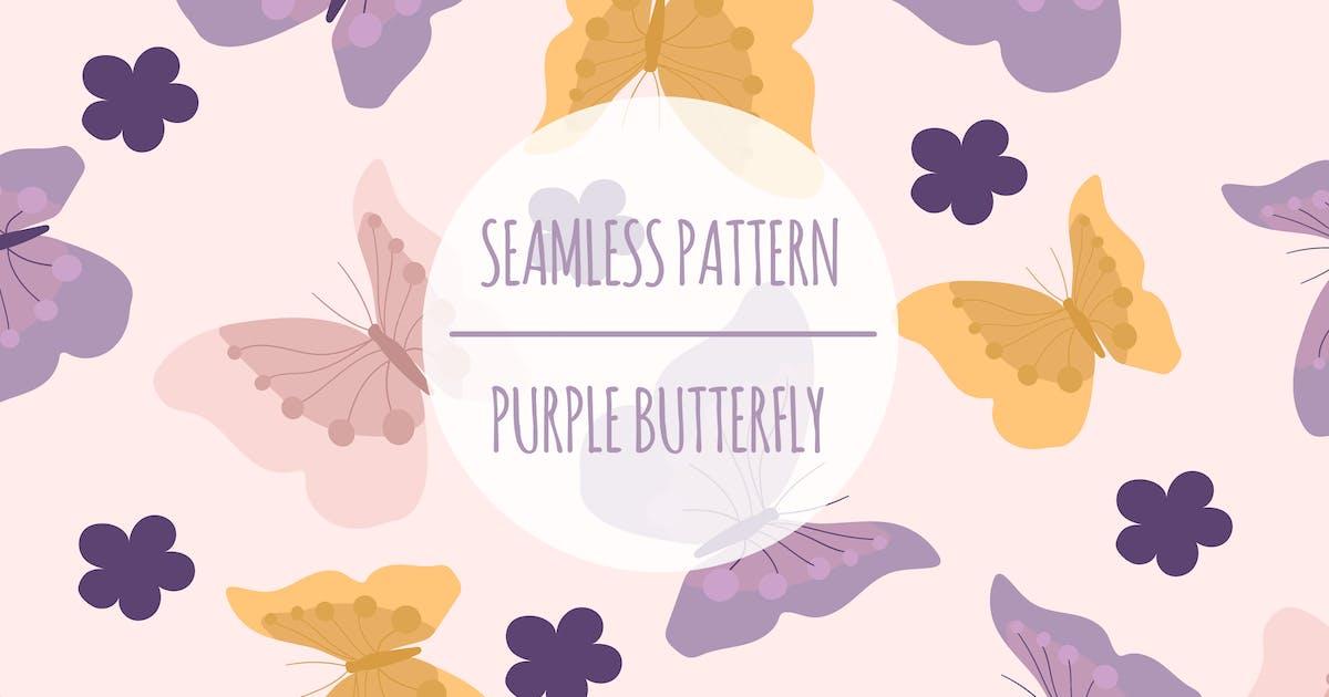 Download Purple Butterfly – Seamless Pattern by designesto