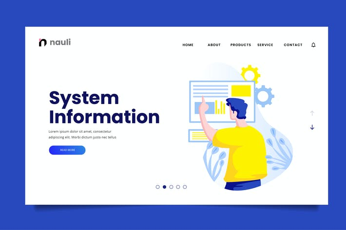 Thumbnail for System Information Web Header PSD and AI Vector