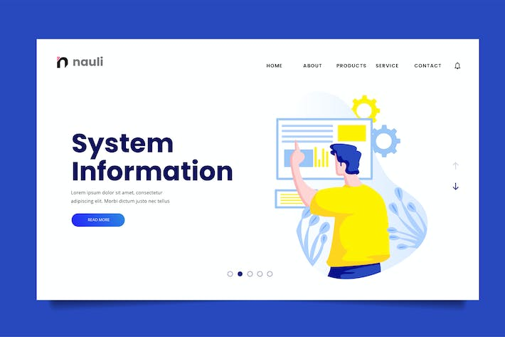 System Information Web Header PSD and AI Vector