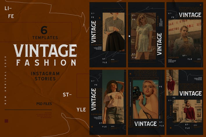 Thumbnail for Vintage Theme - Fashion Instagram Stories