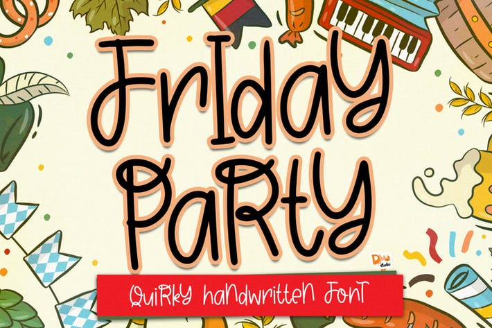 Thumbnail for Friday Party - Quirky Handwritten