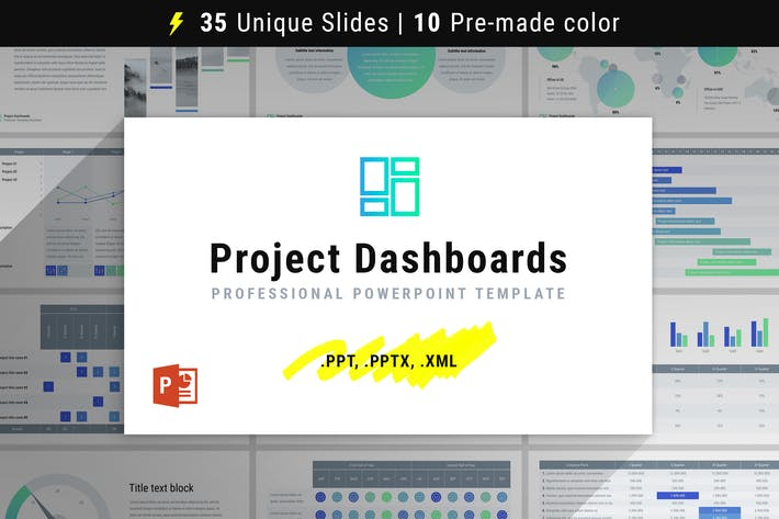 Thumbnail for Project Dashboards for PowerPoint