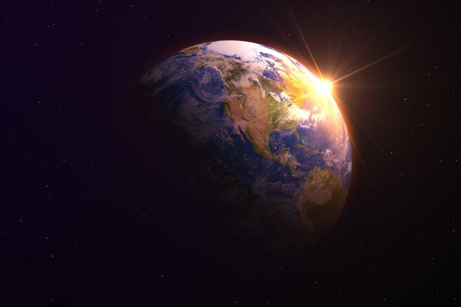 Planet Erde Hintergrund V1