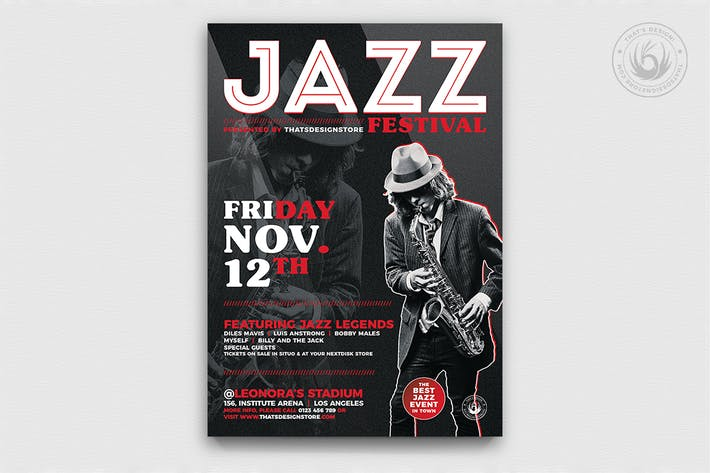 Thumbnail for Jazz Festival Flyer Template V3