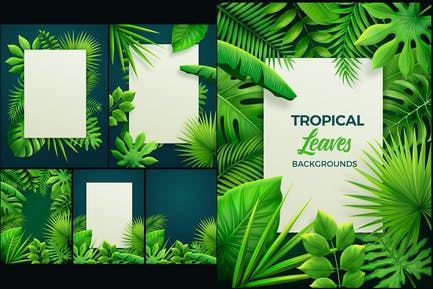 Tropical Leaves Backgrounds