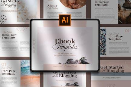 Creative Blogger Ebook Templates for Illustrator