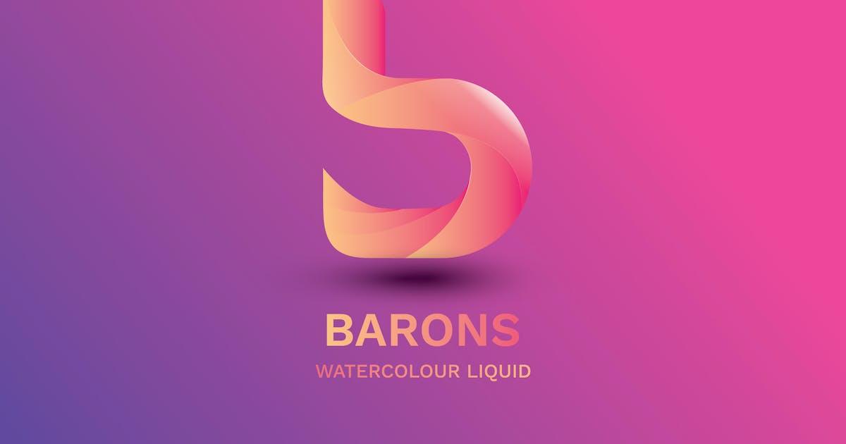 Download Letter B - Watercolour Liquid 2 by nanoagency
