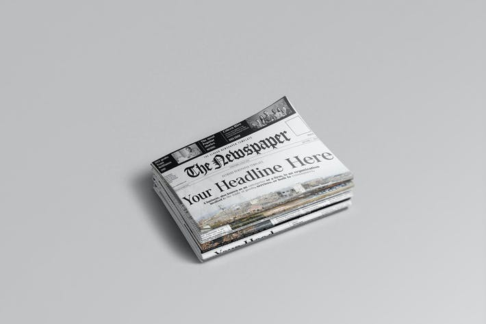 Thumbnail for Newspaper Mockups 01