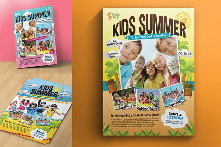 Thumbnail for Kids Summer Camp Flyers