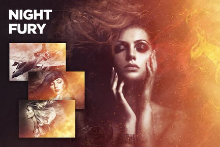 Ночная ярость Photoshop Действие CS3+