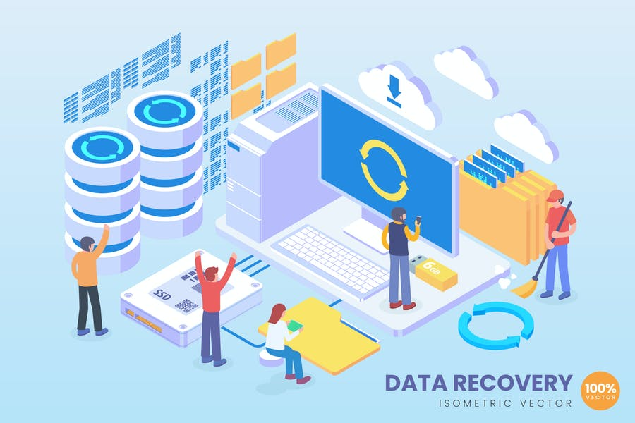 Isometric Data Recovery Vector Concept