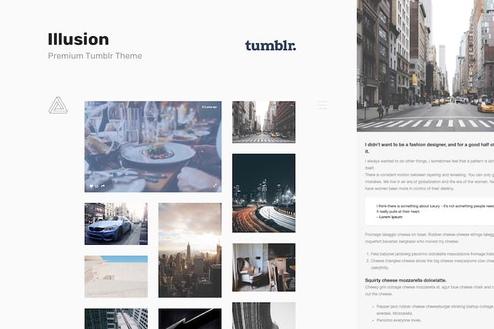 Thumbnail for Illusion | Premium Photography Tumblr Theme