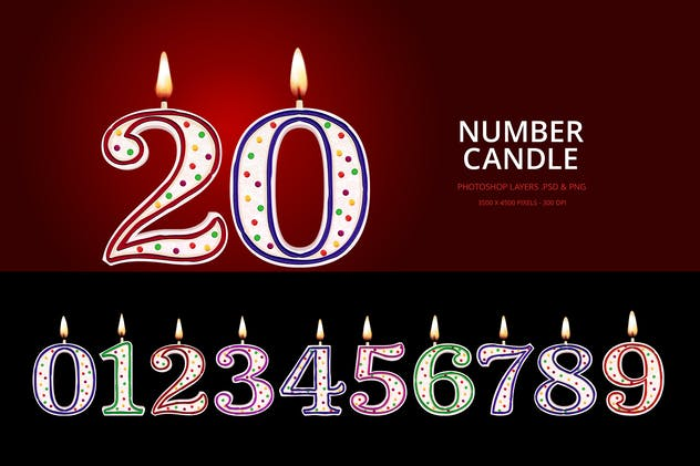 Birthday Candles / Number Candles