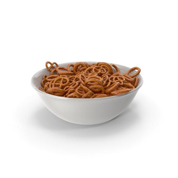 Bowl with Mini Pretzels
