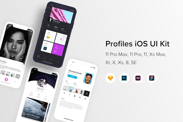 Thumbnail for Profiles iOS UI Kit