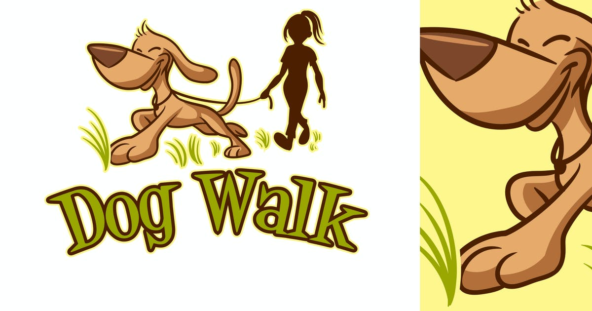 Download Cartoon Dog Walking Logo by Suhandi