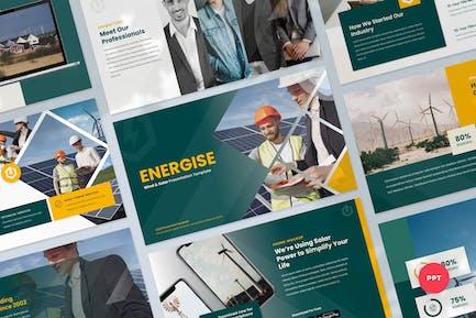 Presentación PowerPoint de energía eólica y solar