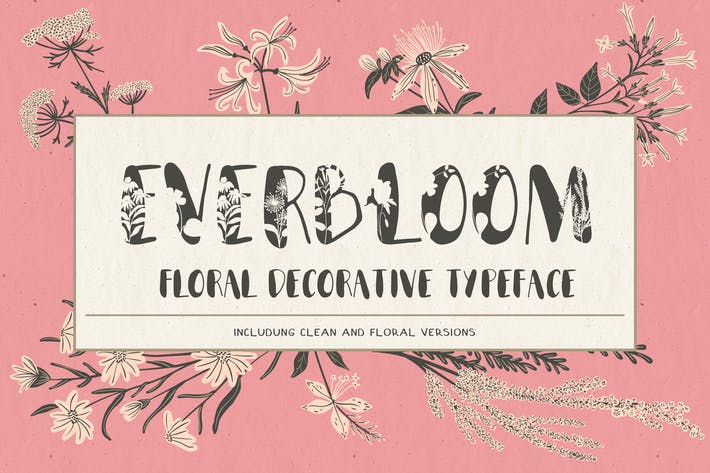 Cover Image For Everbloom - floral typeface