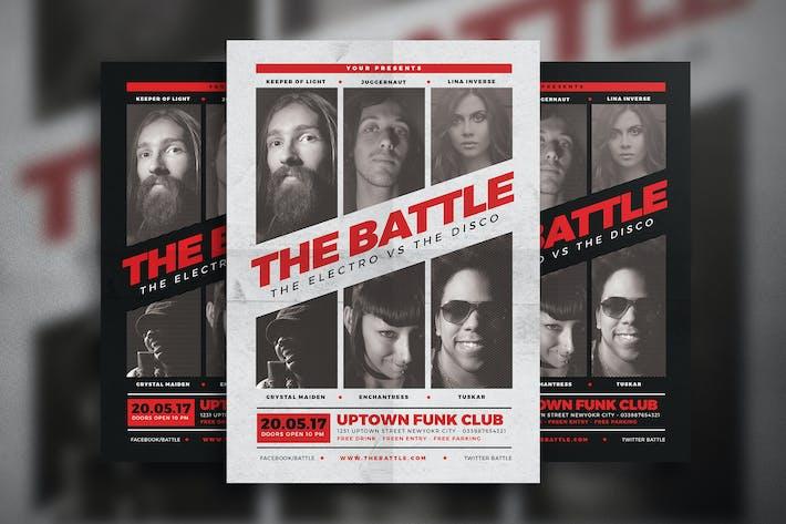 Cover Image For Music Battle Flyer