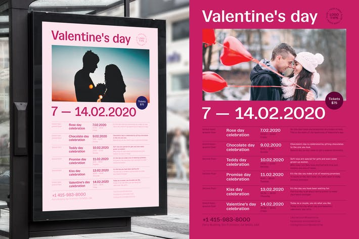 Thumbnail for Valentine's day Poster Template