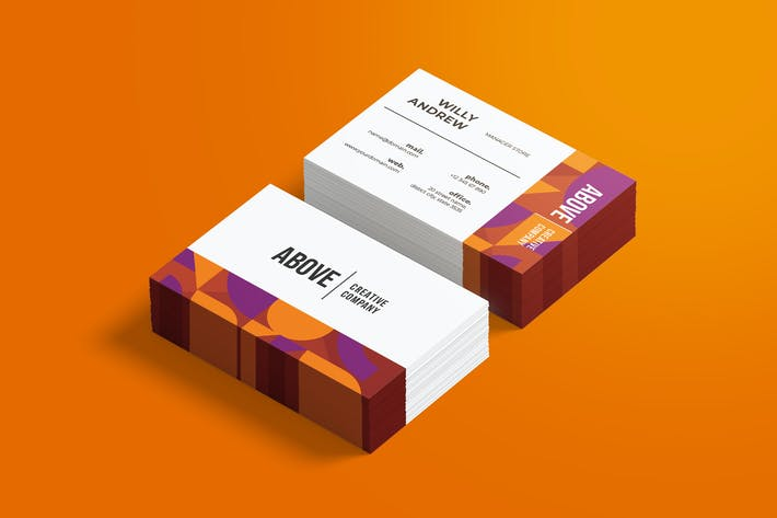 Thumbnail for Above Creative Business Card
