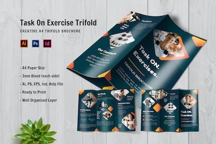 Task On Exercise Trifold Brochure