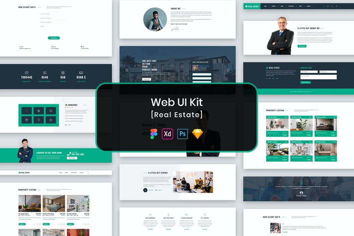 Cover Image For Real Estate Web UI Kit-01