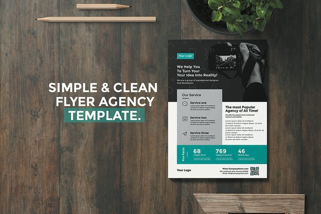 simple flyer for agency - product preview 0