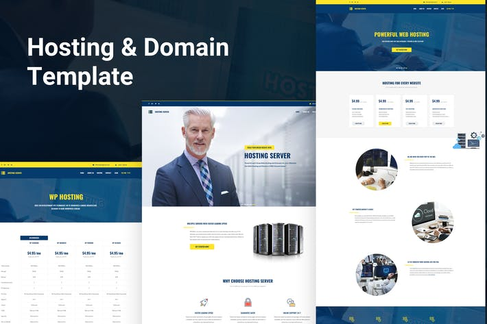 Thumbnail for Hosting & Domain Server PSD Template