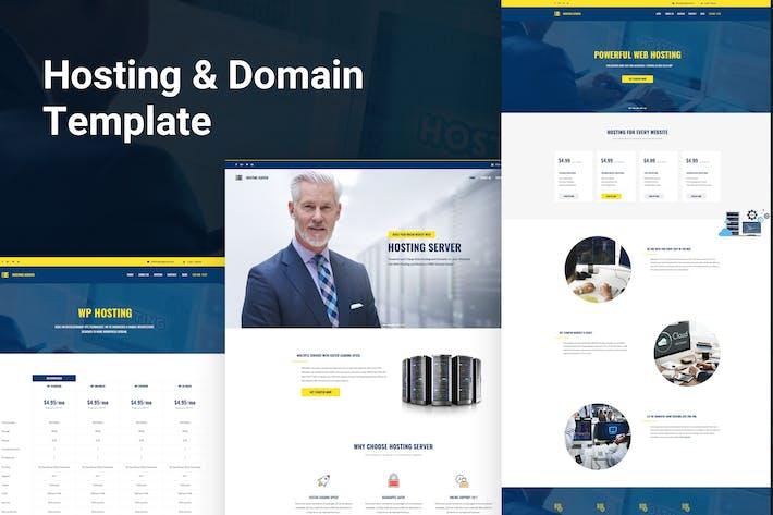 Thumbnail for Шаблон PSD для хостинга и домена сервера