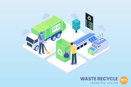 Isometric Waste Recycle Concept