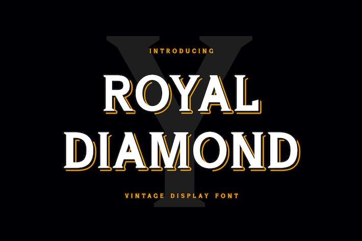 Thumbnail for Royal Diamond Display Serif Font
