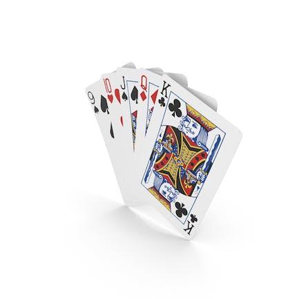 Mano de poker recta