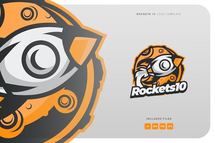 Thumbnail for Rockets 10 Logo Template
