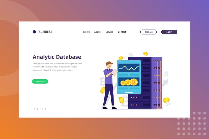 Thumbnail for Analytic Database - Cryptocurrency Landing Page