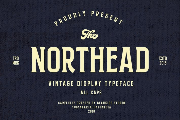 Thumbnail for Northead - vintage serif font