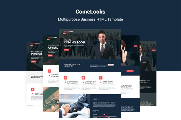 Thumbnail for ComeLooks | Multipurpose Business HTML5 Template