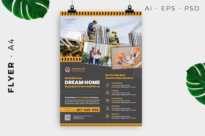 Thumbnail for Building Construction Service Flyer Design