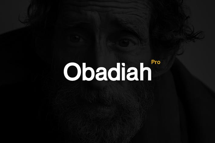 Cover Image For Obadiah pro - Modern Typeface + WebFont