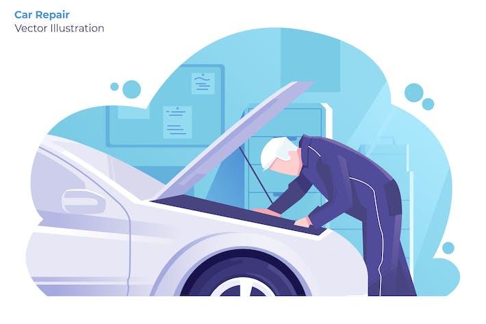 Thumbnail for Car Repair - Vector Illustration