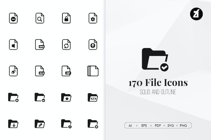 Thumbnail for 170 Archivos extension Íconos Minimalista