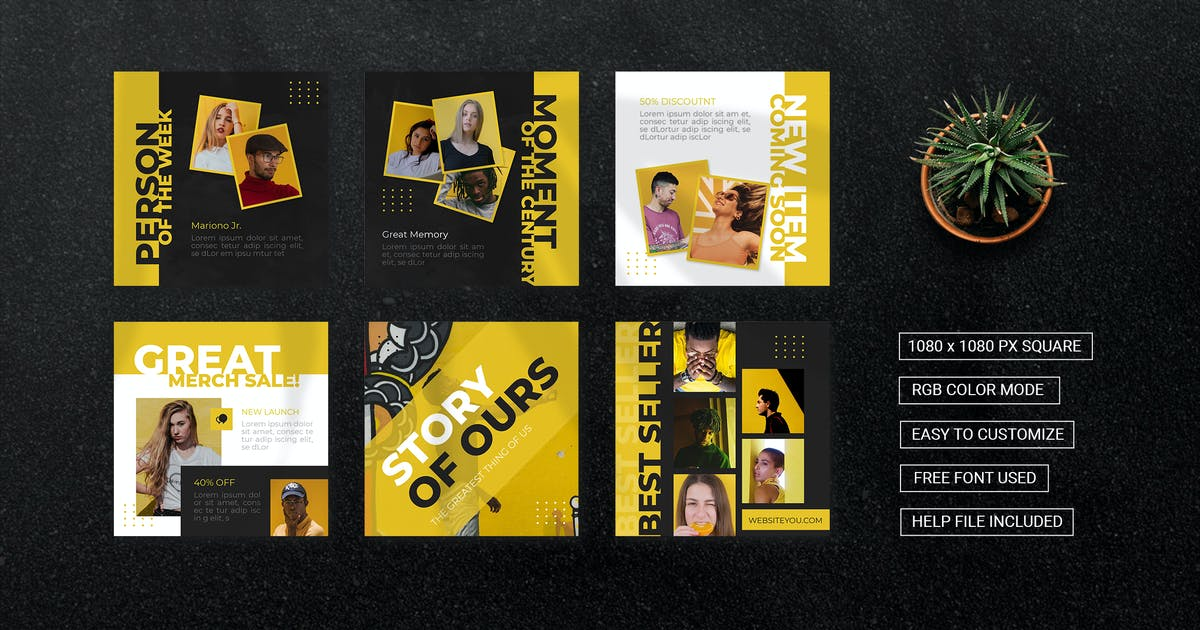 Download Yellow Ours - Instagram Feed by esensifiksi